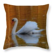 Kensingtons Swan 1  Throw Pillow