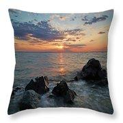 Kent Island Mother's Day Sunset Throw Pillow