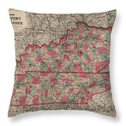Kentucky And Tennessee Throw Pillow