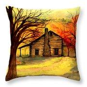 Kentucky Cabin Throw Pillow