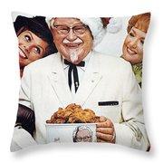 Kentucky Fried Chicken Ad Throw Pillow