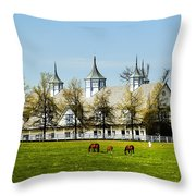 Revised Kentucky Horse Barn Hotel 2 Throw Pillow