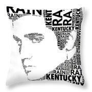 Kentucky Rain Elvis Wordart Throw Pillow