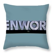 Kenworth Semi Truck Logo Throw Pillow