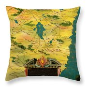 Kenya And Tanzania Throw Pillow