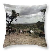 Kenya: Cattle, 1936 Throw Pillow