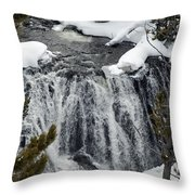 Firehole Falls Yellowstone Throw Pillow