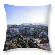 Kerid Crater Throw Pillow
