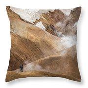 Kerlingafjoll Mountain Throw Pillow