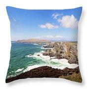 Kerry Cliffs Panoramic Throw Pillow