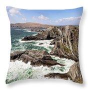 Kerry Cliffs Throw Pillow