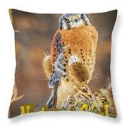 Kestrel Nature Wear Throw Pillow
