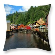 Ketchikan Creek Throw Pillow