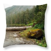 Ketchikan's Misty Fjord Throw Pillow