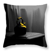 Kettle In Isolation Throw Pillow