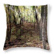 Kettle Moraine Bikers In Action Throw Pillow