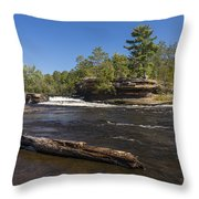 Kettle River Big Spring Falls 6 Throw Pillow