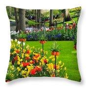 Keukenhof Ornamental Garden. Throw Pillow