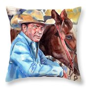 Kevin Costner Portrait Throw Pillow