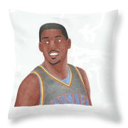 Kevin Durant Throw Pillow by Toni Jaso