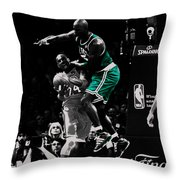 Kevin Garnett Not In Here Throw Pillow