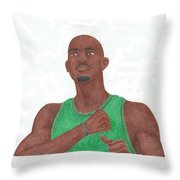 Kevin Garnett Throw Pillow