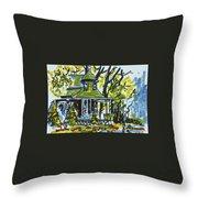 Kew Gardens Gardener's Cottage Throw Pillow