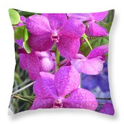 Kew Orchid Throw Pillow