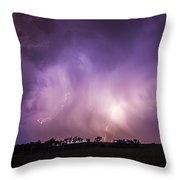 Kewl Nebraska Cg Lightning And Krawlers 017 Throw Pillow