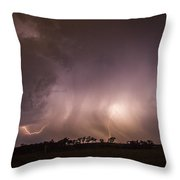 Kewl Nebraska Cg Lightning And Krawlers 020 Throw Pillow