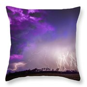 Kewl Nebraska Cg Lightning And Krawlers 038 Throw Pillow