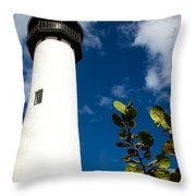 Key Biscayne Lighthouse, Florida Throw Pillow