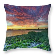 Key Biscayne Sunset Throw Pillow