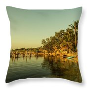 Key Largo Gold  Throw Pillow