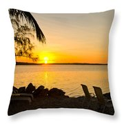 Key Largo Sunrise Throw Pillow