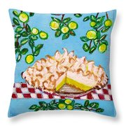 Key Lime Pie Mini Painting Throw Pillow