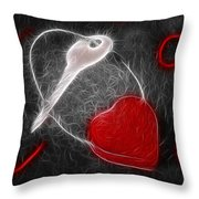 Key To The Heart Throw Pillow