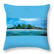 Key West Beach Throw Pillow