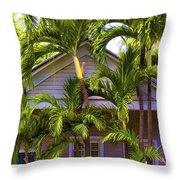 Key West Bungalow Throw Pillow