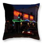 Key West By Night Throw Pillow