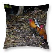 Key West Chickens Throw Pillow