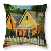 Key West Cottage Throw Pillow