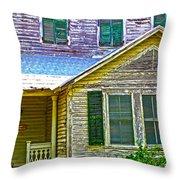 Key West Florida Clapboard Home Throw Pillow