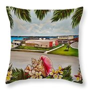 Key West High School From The 60's Era Throw Pillow