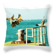 Key West Landing Throw Pillow