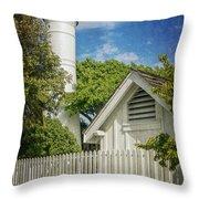 Key West Lighthouse Dsc01547_16 Throw Pillow