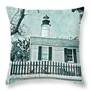 Key West Lighthouse Impression Throw Pillow