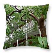 Key West Pink And Green Throw Pillow