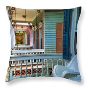 Key West Porches Throw Pillow