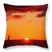Key West Red Cloud Sunset Throw Pillow